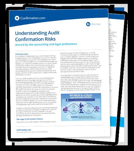 Livre blanc juridique - Comprendre les risques d'une confirmation d'audit